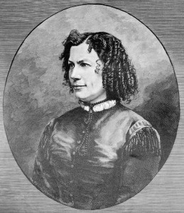 1887. E. Marlitt (1887). Según foto de Chr. Beitz y grabado de R. Huthsteiner. Wikipedia.