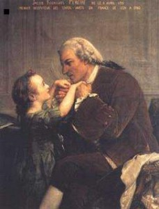 Jacob Rodrigues Pereira y su alumna Marie Drois (Fuente: Wikipedia)