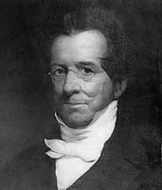 Thomas Hopkins Gallaudet (Retrato póstumo por G.F. Wright, 1851) (Fuente: Wikipedia)