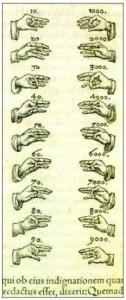 Alfabeto Beda según Piero Valeriano, 1556 (detalle) Tomado de Gascón y Storch de Gracia (2004:71)