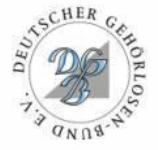 Logo de la Federación Alemana de Sordos