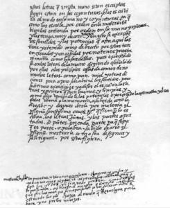 Facsímil del texto de Ponce de León referido en el artículo (Foto del autor)