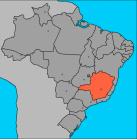 Ubicación del Estado de Minas Gerais, Brasil